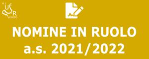 Nomine ruolo a.s. 2021/2022